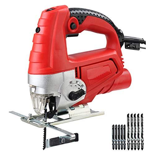 Multifunktionale Elektrosäge Holzverarbeitung Home manuelle Stichsäge Motor Werkzeug mit 10 Stück Sägeblätter 1080W