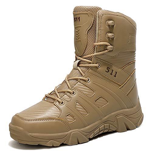 RatenKont Zapatos Senderismo Botas Trekking al Aire Libre Impermeables Tactical Combate Botas ejército Zapatillas Deporte montaña Khaki-4 13