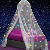 UB-STORE Canopy for Girls Bed with Pre-Glued Glow...