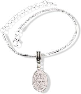Bonyak Jewelry Round Eye Hook Bangle Bracelet w//St Jason in Gold-Filled
