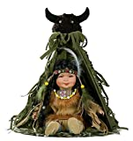 12' Collectible Native American (Indian) Porcelain Doll - Alawa - D12646