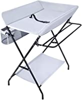 Changing Tables Portable Baby, Foldable Diaper Station with Storage, Nursery Organizer for Infant 0-3 Years Old