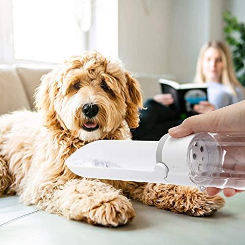 ATIN 420ML perro tazón dispensador alimentador de beber botella de agua para mascotas taza portátil al aire libre
