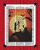 Nightmare Before Christmas Movie Poster Jack Skellington Sally Horror Movie Dictionary Art Print 8x10