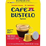 Café Bustelo Coffee Espresso Dark Roast Coffee, 40 Count Capsules for Espresso Machines, 11 Intensity