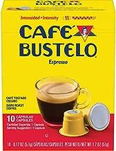 Café Bustelo Espresso Dark Roast Coffee, 40 Count Capsules for Espresso Machines, 11 Intensity