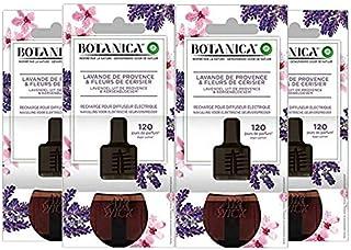 Air Wick Botanica Désodorisant Maison Recharge Electrique, Parfum Lavande De Provence et Fleurs de Cerisier 19 ML, Lot de 4