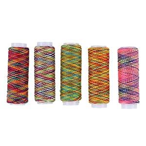 Artibetter 5 piezas arco iris hilo de coser mano acolchado bordado hilo de coser para m/áquina de coser y trabajos de reparaci/ón de manos