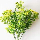 Soehong Silk Gefälschte 7 Zweig Bouquet Grünpflanze Simulation Mailand Kunstrasen Mit Blatt Einstellung Wanddekoration Blumenzubehör House (Color : Yellow 33cm)