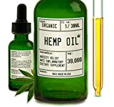 Wuv Organic Hemp Oil 30000 MG for Pain & Anxiety Relief, Inflammation, All Natural Vegan Hemp Oil, Helps Skin & Hair Pure Extract