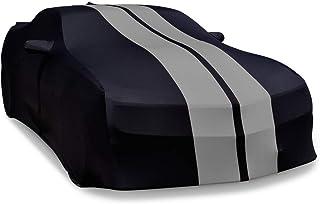 MUSTANG HIGH END ONYX BLACK SATIN CUSTOM FIT STRETCH INDOOR CAR COVER 05 thru 19