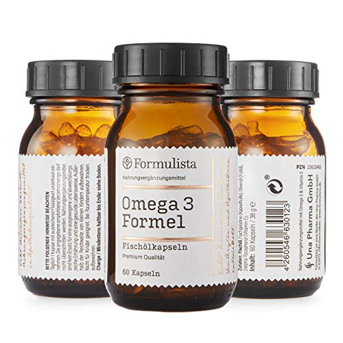 Omega 3 Formel | Fischölkapseln | Arzneimittelqualität | 350 mg Omega 3 Fettsäuren pro Kapsel | mit Vitamin E | nachhaltiger Fischfang