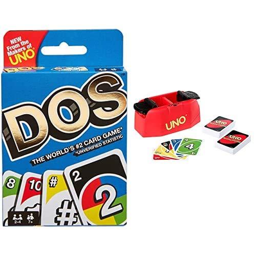 Mattel Games Dos, Juego de Cartas de UNO, Edad recomandada 7 - 10 años + UNO Showdown, Juego de Cartas