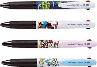 三菱鉛筆 ジェットストリーム 3色ボールペン ディズニーシリーズ 0.5mm 4柄4本 [数量限定] HSXE3-504D-05MMH/MNG/DNB/ALN 4種4本組み
