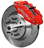 NEW WILWOOD FULL FRONT DISC BRAKE KIT,13' ROTORS,RED CALIPERS,PADS,COMPATIBLE WITH 1958-1968 FORD, MERCURY, EDSEL, COUNTRY SEDAN, SQUIRE, FAIRLANE, GALAXIE, LTD, RANCHERO, THUNDERBIRD, MONTEREY, MORE