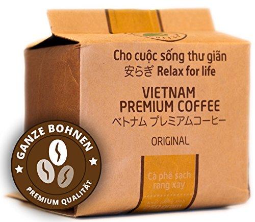 VietBeans – Hello5 Original Espressobohnen 250g – Hochwertige vietnamesische Kaffeebohnen – Dunkel und kräftig – Schokoladennote – Peaberries Vietnam