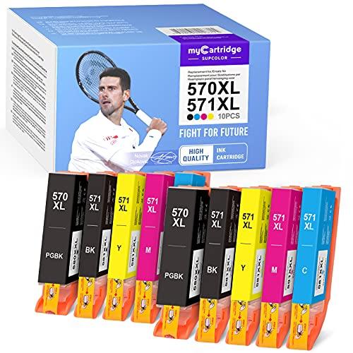 myCartridge SUPCOLOR CLT-570XL PGI-571XL 570 571 XL Multipack remanufacturado compatible Canon 570 570XL 571XL para Canon Pixma MG5750 TS5050 TS6050 MG5751 MG5752 MG6850 MG6852 TS5053 5055