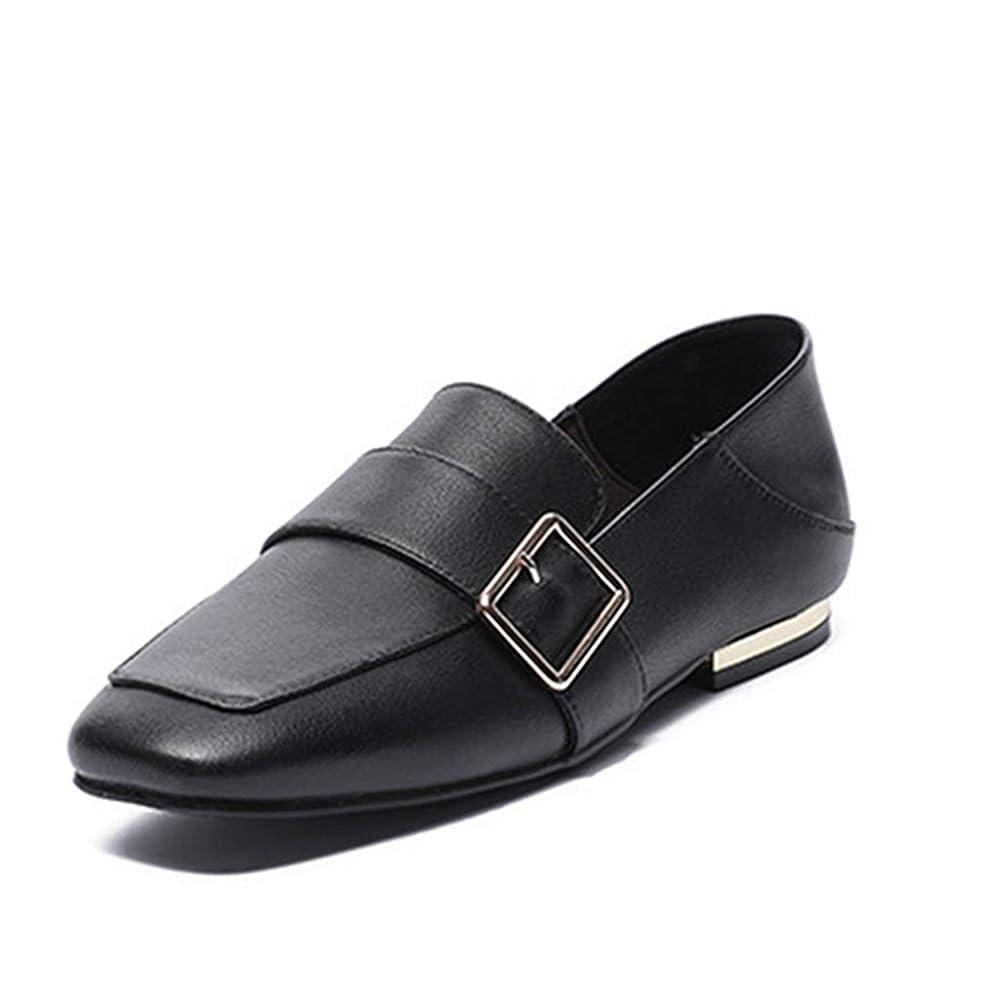 聞きます前方へ夕方ローファー スクエアトゥ レディース 黒 フラットシューズ シンプル 履きやすい 歩きやすい 通勤靴 学生 痛くない 革靴 滑りにくい カジュアルシューズ コンフォートシューズ