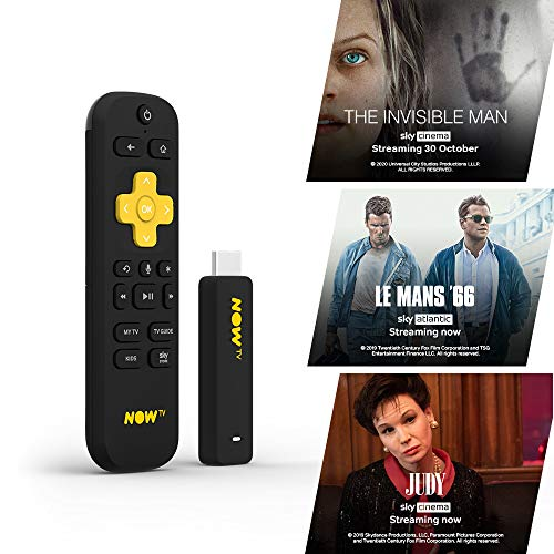 Chiavetta smart per NOW TV, con HD e funzione di ricerca vocale. Incluso 1 mese di Sky Cinema Pass (versione italiana non garantita)