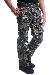 LY4U Hombres Senderismo Transpirable de Secado r/ápido Pantalones Soft Shell Forrado Ligero Camping Pantalones al Aire Libre Ducha Impermeable Verano Caminata Escalada Camuflaje Pantalones