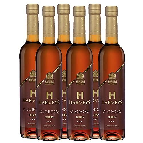 Vino Oloroso Harveys de 50 cl - D.O. Jerez-Sherry - Bardinet (Pack de 6 botellas)