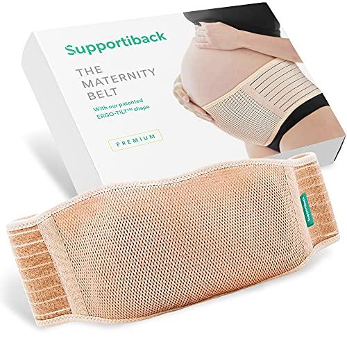 Supportiback® Cintura di maternità   Fascia addominale e supporto per la schiena per gravidanza, materiale morbido e traspirante, supporto per alleviare il dolore alla schiena e al pavimento pelvico.