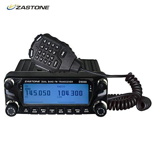 Express Panda Radio bidireccional VHF / UHF de doble banda para vehículos (camiones, furgonetas, automóviles) - Kit de Walkie Talkie con micrófono de teclado