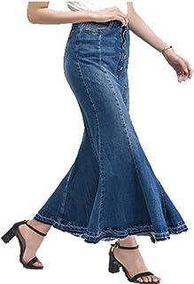 low cost 20537 f1768 Suchergebnis auf Amazon.de für: jeansrock lang: Bekleidung
