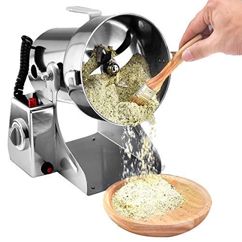 DFGENLY Molino de Cereales Eléctrico, Molino de Grano de Acero Inoxidable para...