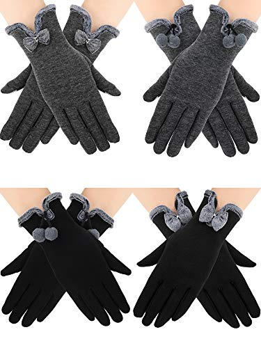 4 Pairs Women Touch Screen Gloves W…