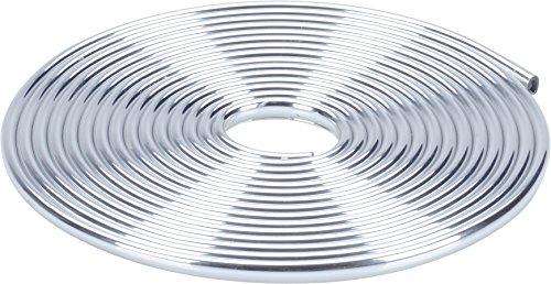 hr-imotion 12110701 Türkantenschutz silber / chrom (5 Meter) [U-Profil | Hochflexibel | Zuschneidbar   Selbstklebend]