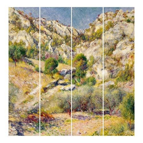Bilderwelten Cortinas deslizables - A. Renoir 4 Paneles japoneses Montaje de Pared 250x240cm