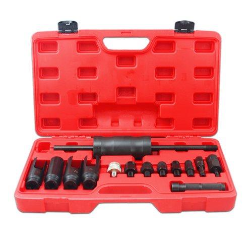 Hengda® 14-TLG Diesel Injektor Auszieher Injektoren Abzieher Werkzeug CDI Universal Einspritzdüsen