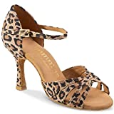 Rummos Mujeres Zapatos de Baile R383 020 - Material: Cuero - Color: Leopardo - Anchura: Normal - Tacón: 70R Flare - Talla: EUR 39