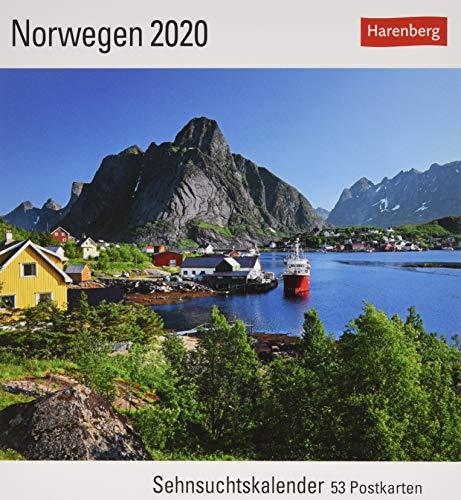 Norwegen Postkartenkalender 2020. Wochenkalendarium. Blockkalender. Format 16 x 17,5 cm