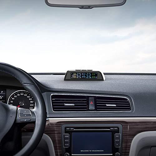 『GreenGee タイヤ空気圧センサー タイヤ空気圧モニター 【日本語人声提示音】 TPMS センサーIP67防水防塵 タイヤ気圧温度測定 即時空気圧監視 太陽能/USB充電 120℃耐え 一年保障』の3枚目の画像