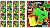 JA-RU Ultra Foam Dart Gun Super Mega Powerful Shotgun Blaster Shot Handgun for Kids and Adults Great Party Favor Pinata Fillers Set Plus 1 Bouncy Ball (12 Packs) 5483-12p