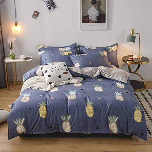 YYSZM Textiles para El Hogar Funda Nórdica Funda De Almohada Sábana Ropa De Cama De Algodón Cama Matrimonial King Size