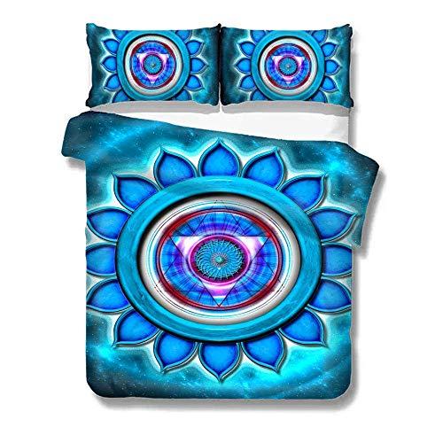Totun Bettbezug-Set Abstrakt Blue Galaxy Pattern 3-teiliges ultraweiches und pflegeleichtes Bettwäscheset im einfachen Stil Pflegeleicht Antiallergisches Weiches Glattes