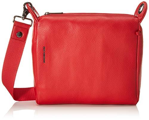 Mandarina Duck Mellow Leather Tracolla, Bolsa de mensajero para Mujer, Rojo (Flame Scarlet), 25.5x24x10 centimeters (W x H x L)