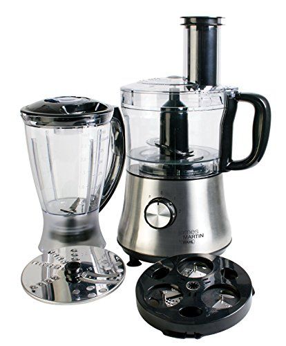 Wahl James Martin Food Processor Compact with Spiralizer, 500 W, 1.5 Litre with Spiralizer Electric, Ice Crushing 1 L Blender, Blade/ Slicing and Grating disc, 2.3 Kgs