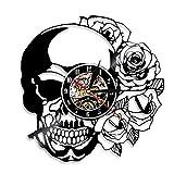 XMRISE Reloj De Pared De Disco De Vinilo Pared Reloj Vintage Regalo Inusual de Halloween Navidad...