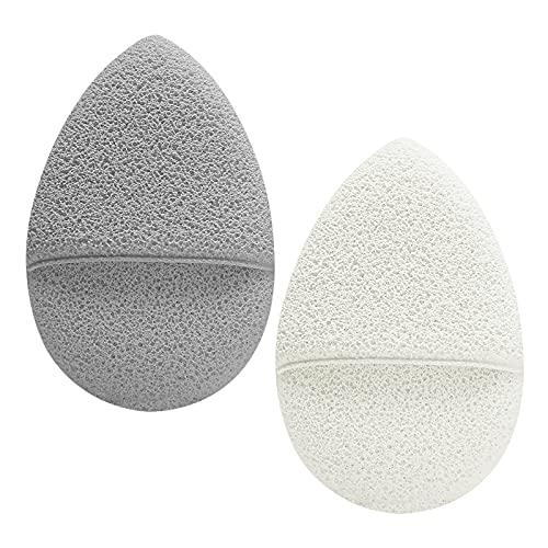 2 piezas de esponja de limpieza facial, esponja exfoliante, almohadillas de limpieza de maquillaje facial reutilizables para mujeres y hombres, piel propensa al acné, grasa y sensible
