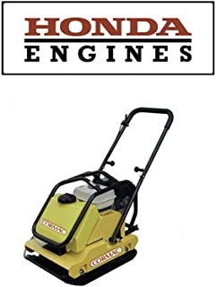 CORMAC C95TH plate compactor gasoline engine GX160 @ 5.5Hp & water tank