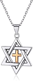 Best jewish star and cross necklace Reviews