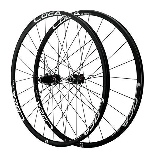 SJLA Rueda para Bicicletas de Montaña, Ruedas Ciclismo de 26/27.5/29 Pulgadas Liberación Rápida Freno de Disco Base Torre de 5 Garras 12 Velocidades (Color : Black)