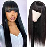 Best Full Lace Wigs - TUNEFUL Straight Human Hair Wigs with Bangs Review