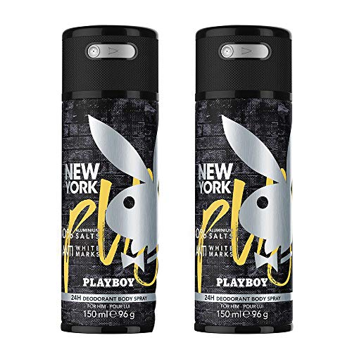 Playboy New York Deo Body Spray Mann, 2er Pack (2 x 150 ml)