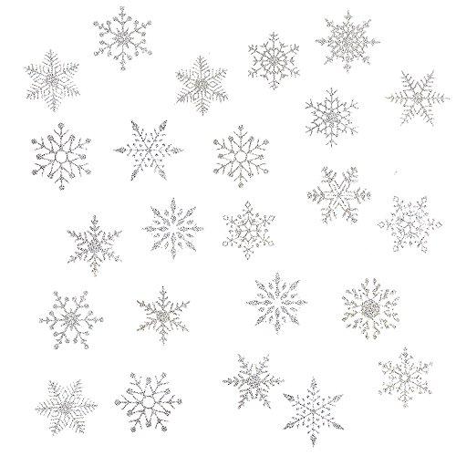 Oblique-Unique® Schneeflocken Schnee Sticker für weihnachtliche Dekoration - Weinachten Deko