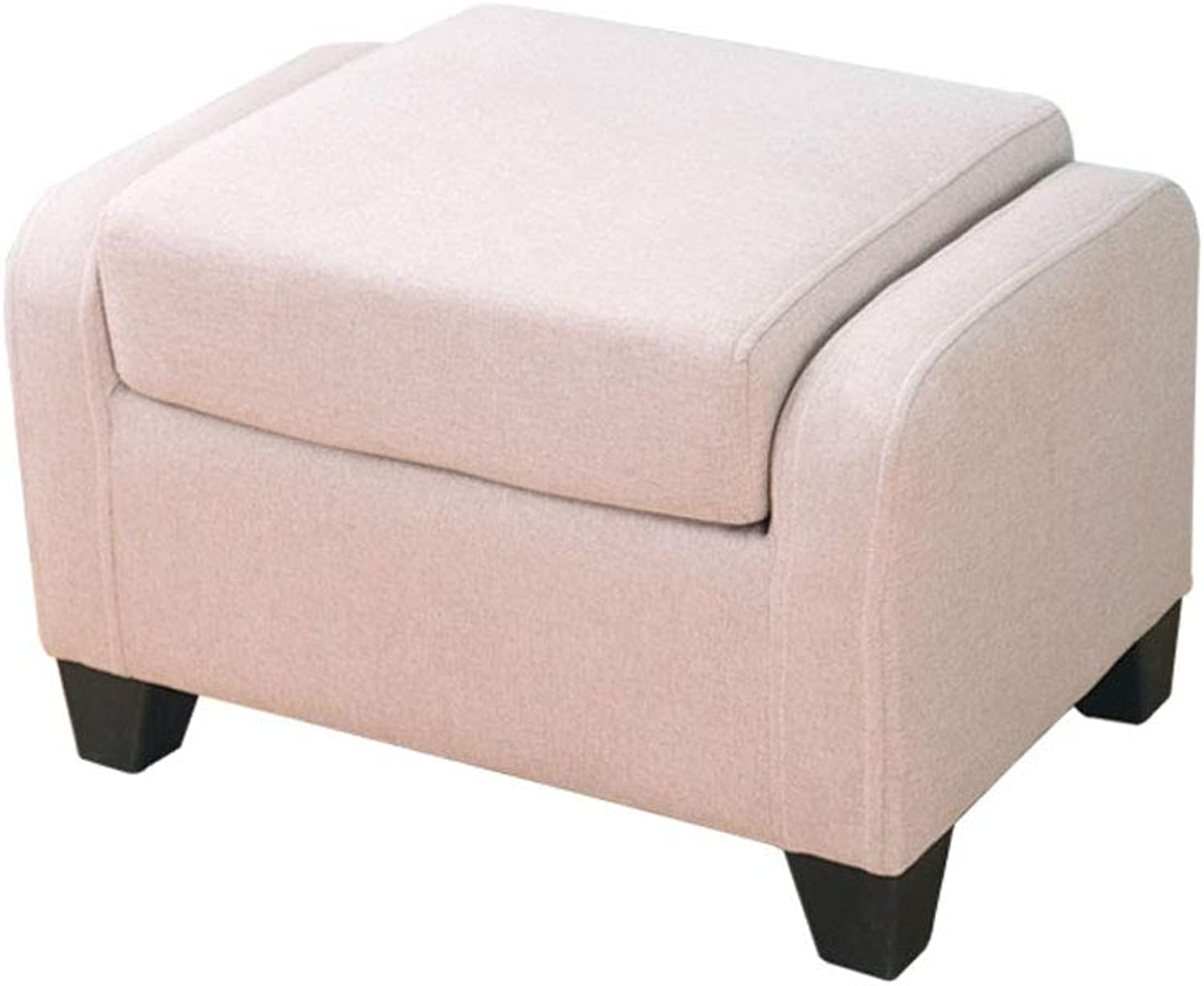 Sofa Stool Fabric Square Soft Seat Can Be Used As Sofa Back Lazy Stool V (color   Beige, Size   L58CMXW40.5CMXH37.5CM)
